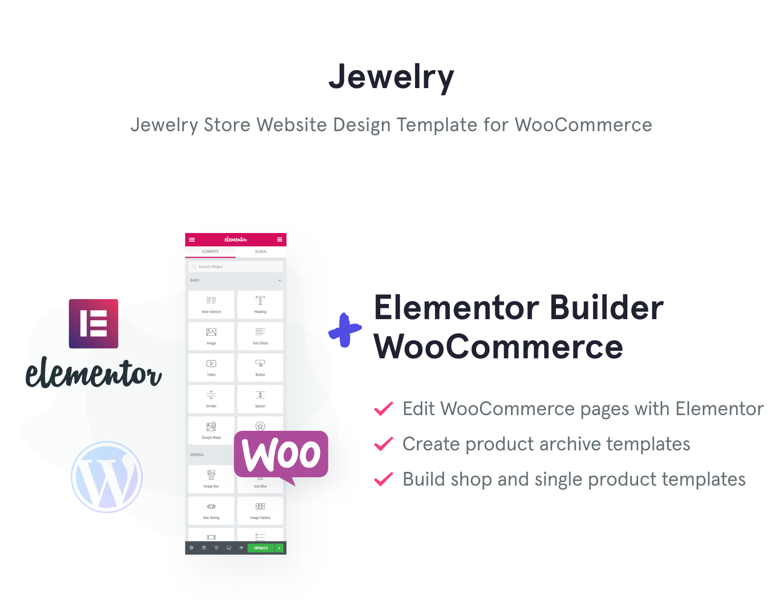 Jewelry - Jewelry Website Design Template for Online Shops WooCommerce Theme