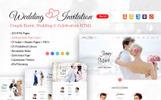 Шаблон сайту на тему організатор весілля
