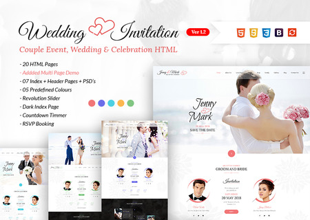 Wedding Invitation - Couple Event & Celebration