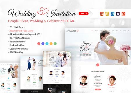 Wedding Invitation - Couple Event & Celebration