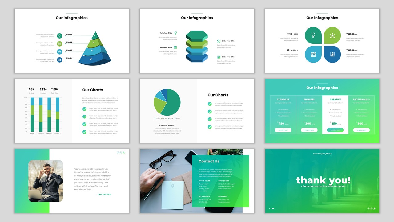 Cileunca - Creative Business PowerPoint Template