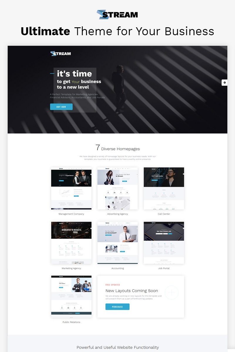 Dynamic Financial Advisor Multipage HTML Template