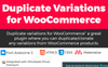 """Duplicate variation for WooCommerce"" wordPress Plugin  Grande capture d'écran"