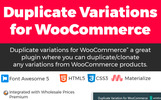 """Duplicate variation for WooCommerce"" wordPress Plugin"