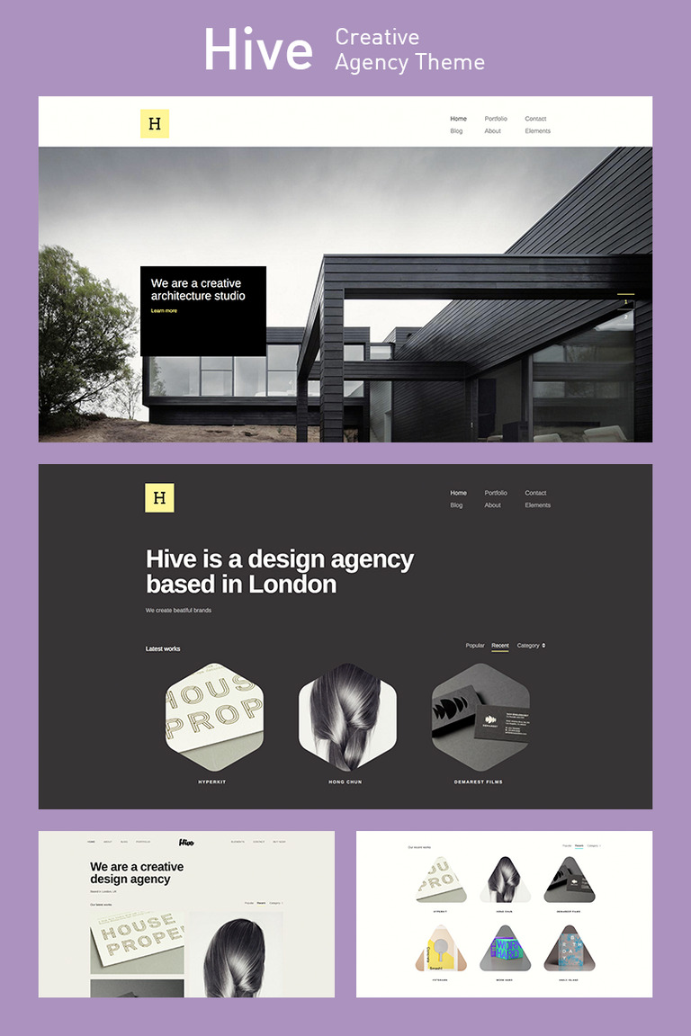 Hive - Creative Agency WordPress Theme Big Screenshot