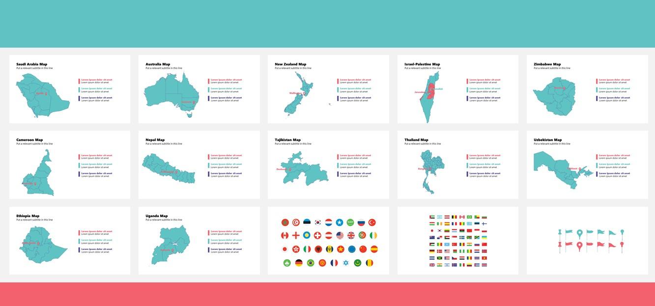 Maps Complete Bundle PowerPoint Template