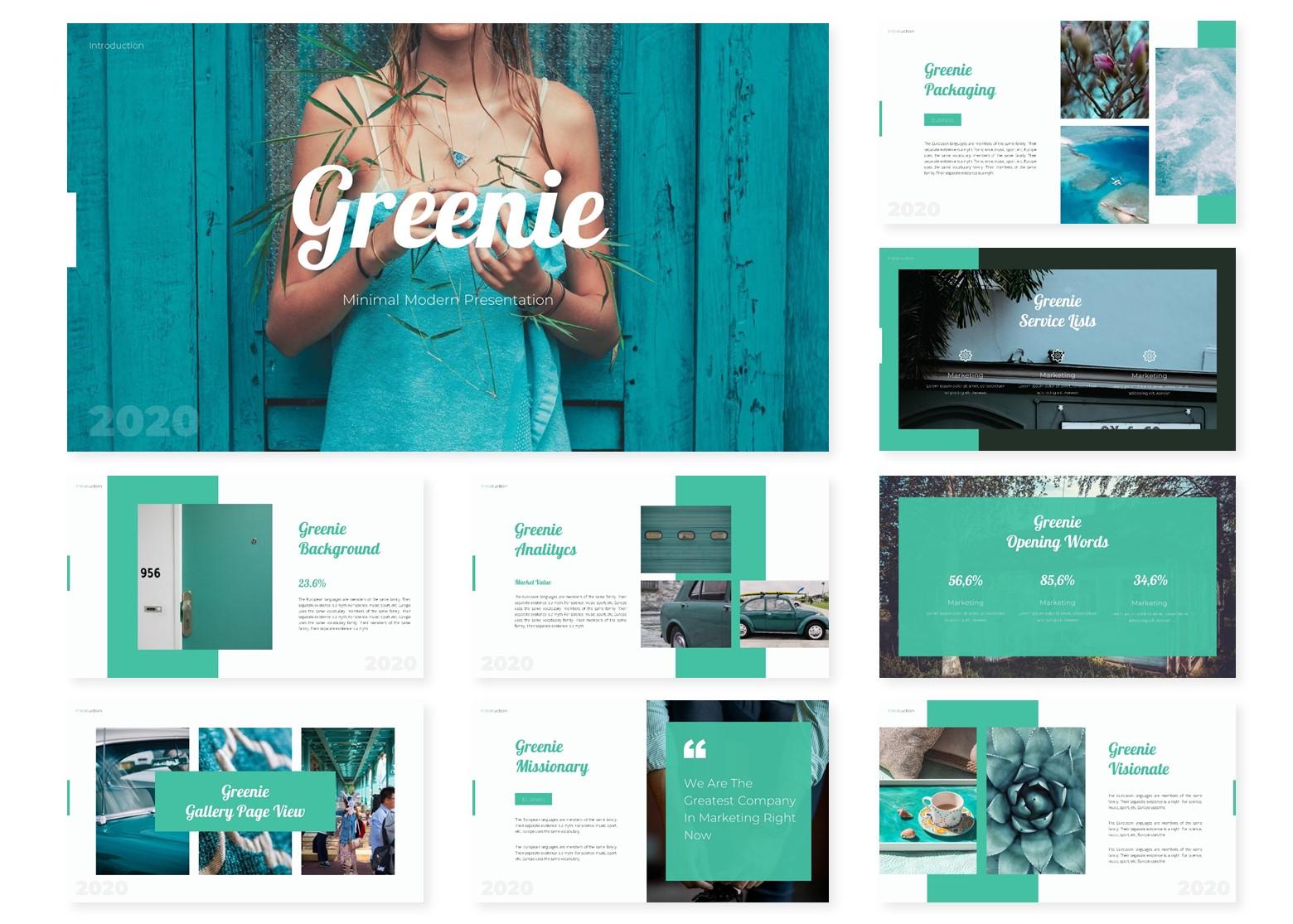 Greenie   PowerPoint Template
