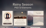 Rainy Season - PSD UI Elements