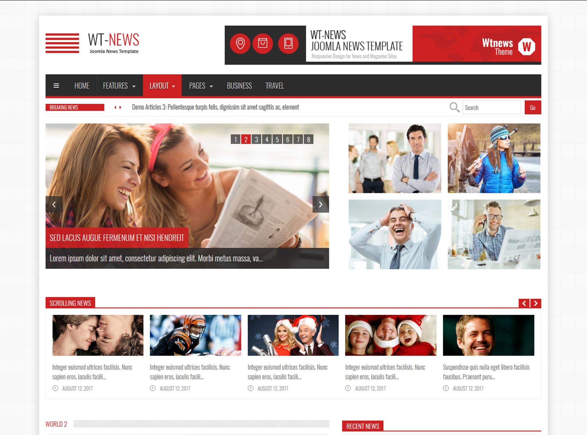 Newagazine Joomla Template Screenshot Zoom In Live Demo