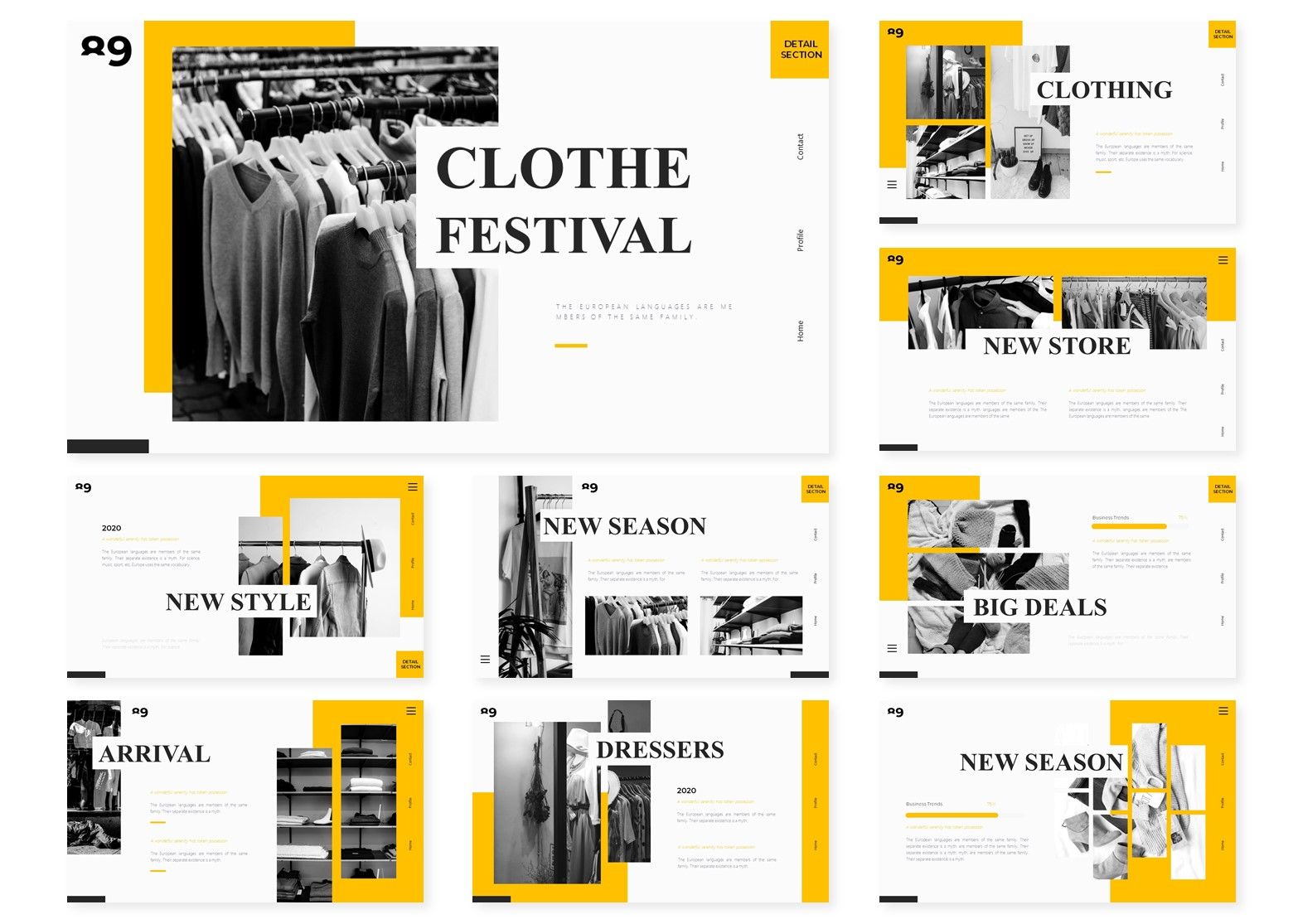 Clothe Festival | PowerPoint Template