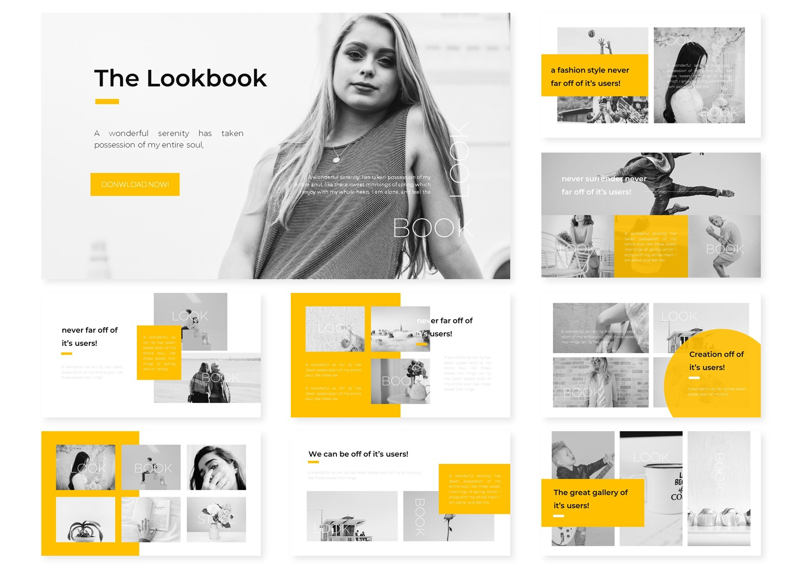 The Lookbook | PowerPoint Template