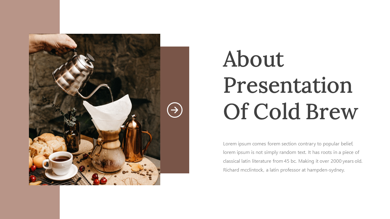 Cold Brew - Presentation PowerPoint Template
