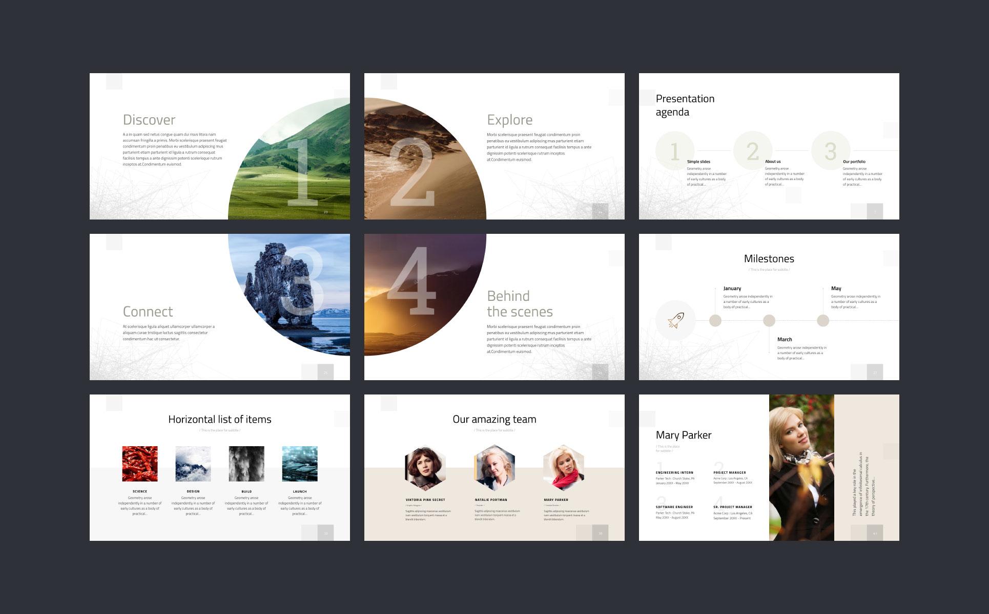 Geometry Keynote Template - Keynote brochure template