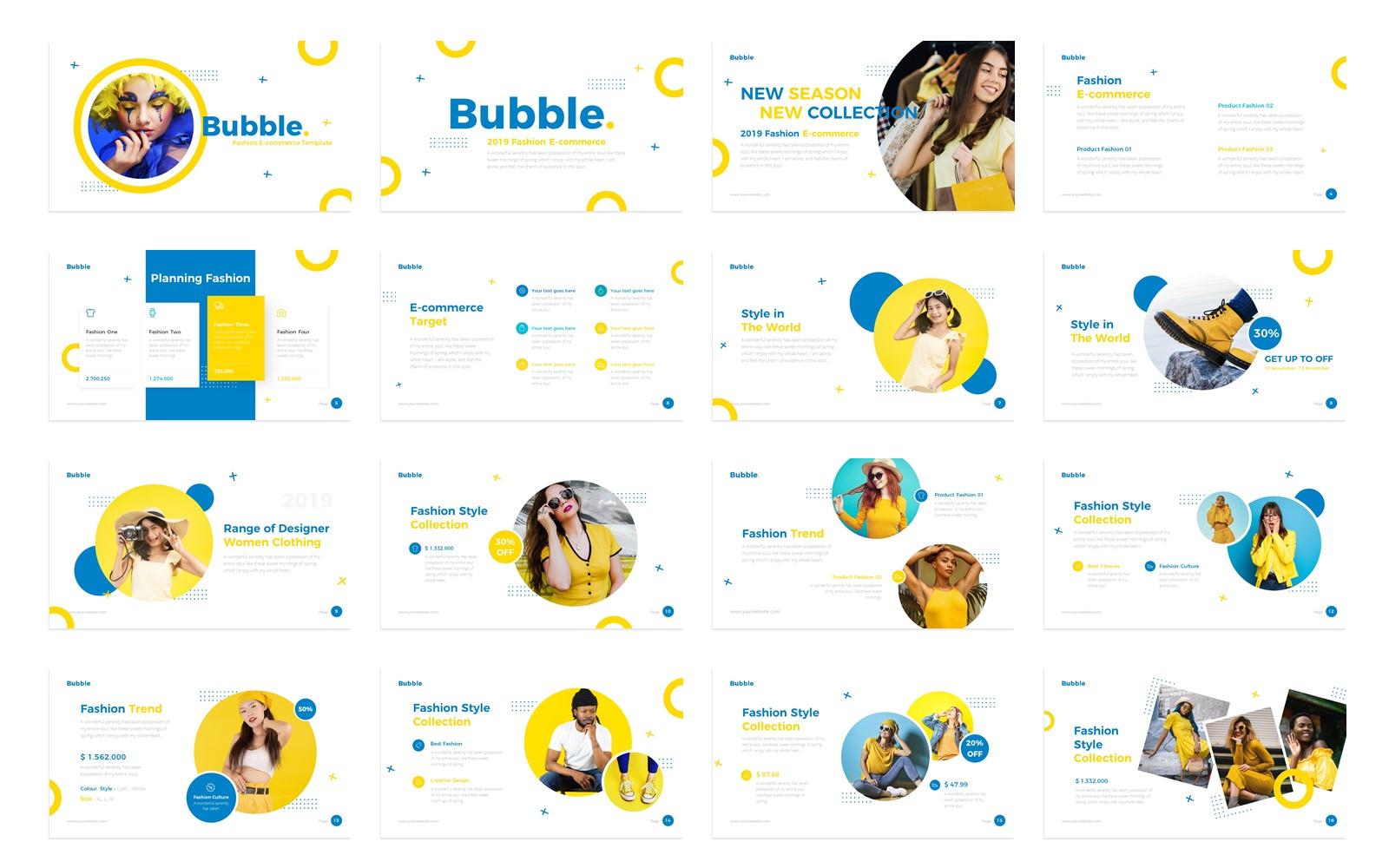 Bubble Fashion Presentation PowerPoint Template