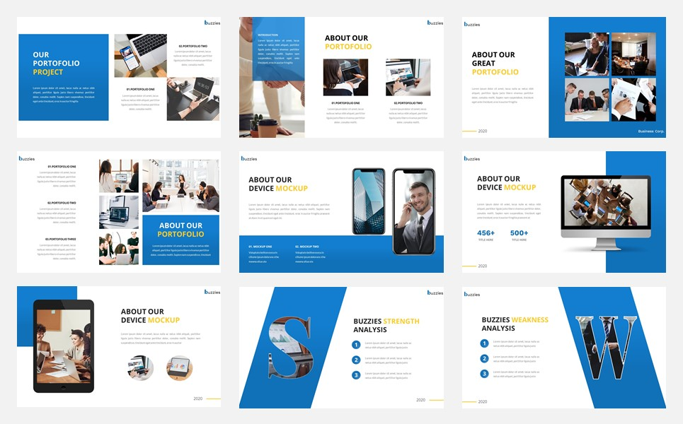 Buzzeies - Business presentation PowerPoint Template