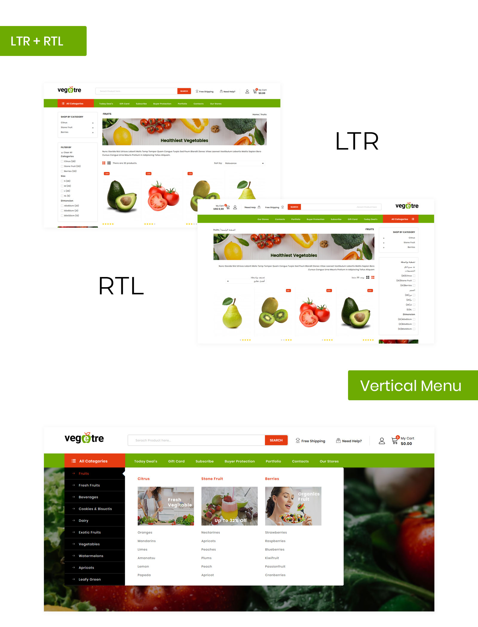 Vegetre - Grocery Store PrestaShop Theme