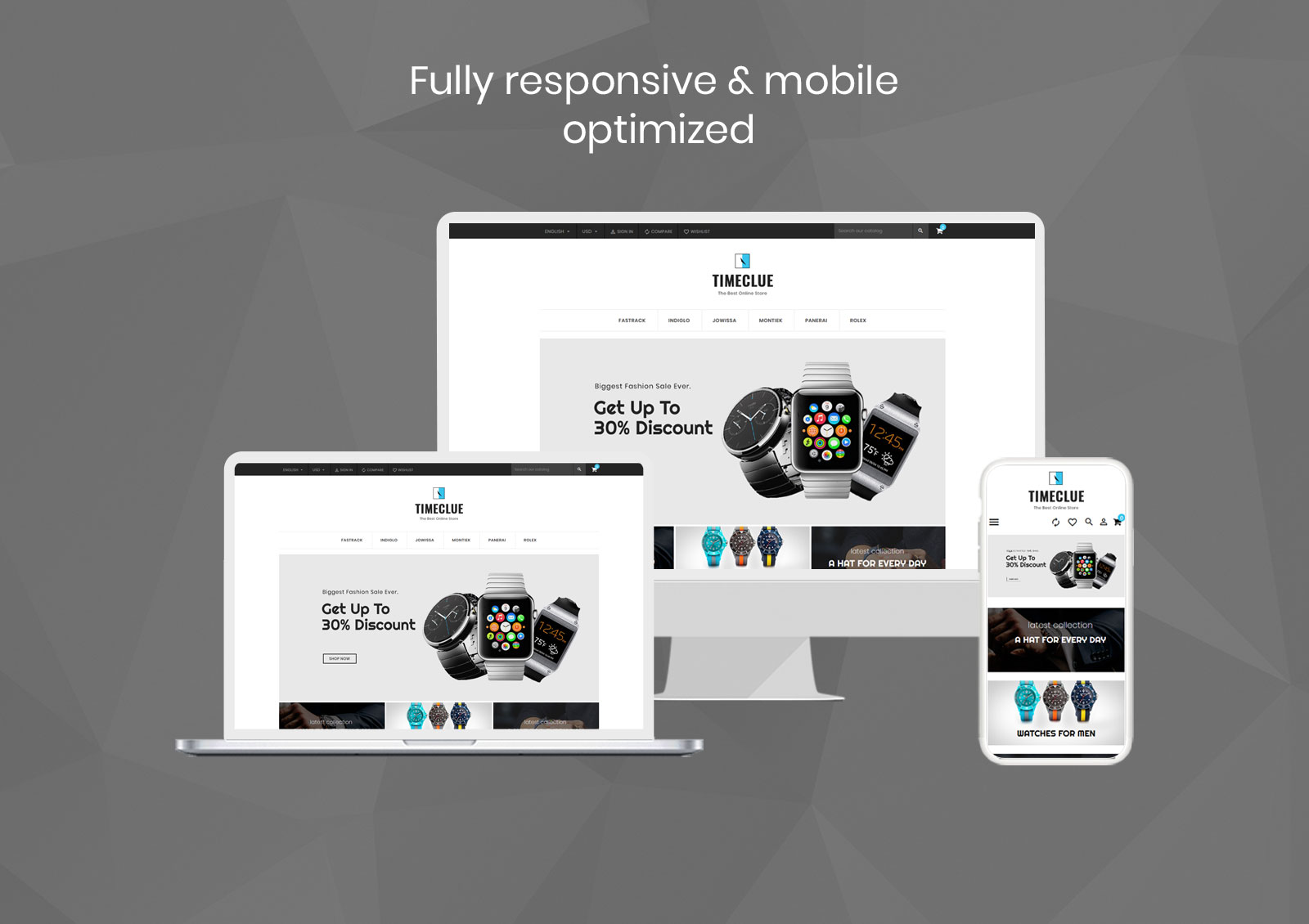 Timeclue - Watch Store PrestaShop Theme