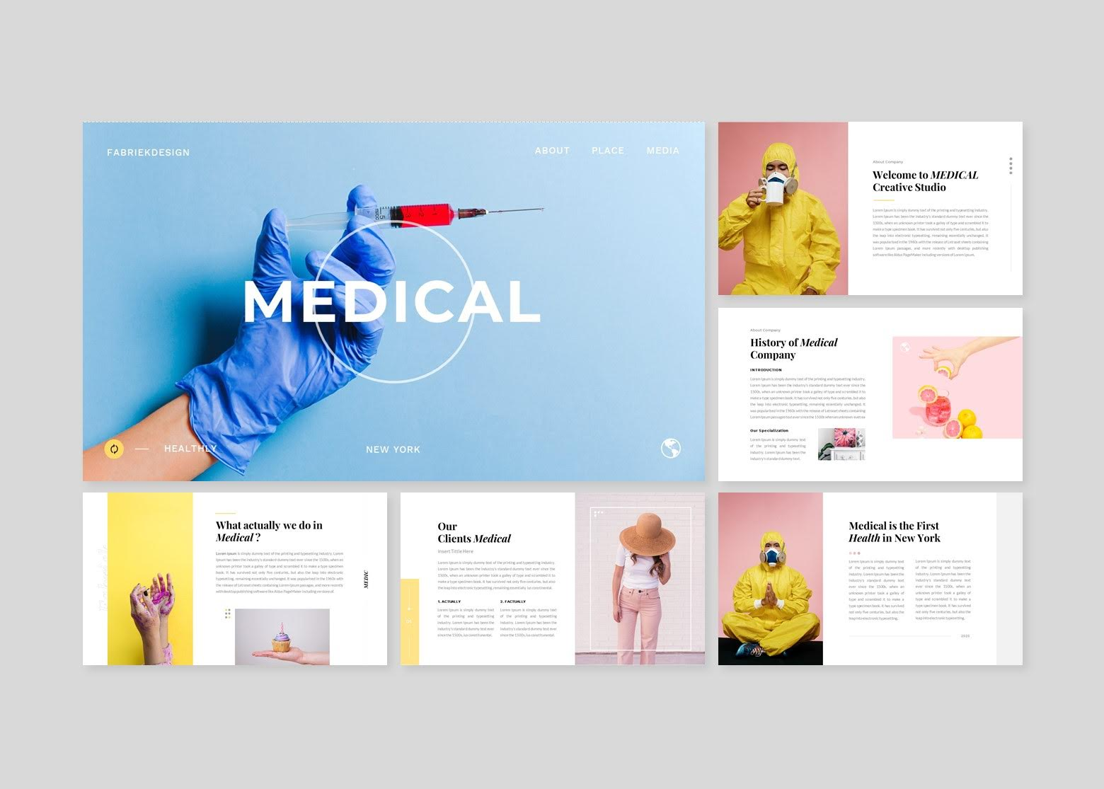 Medical Heath Creative Business PowerPoint Template