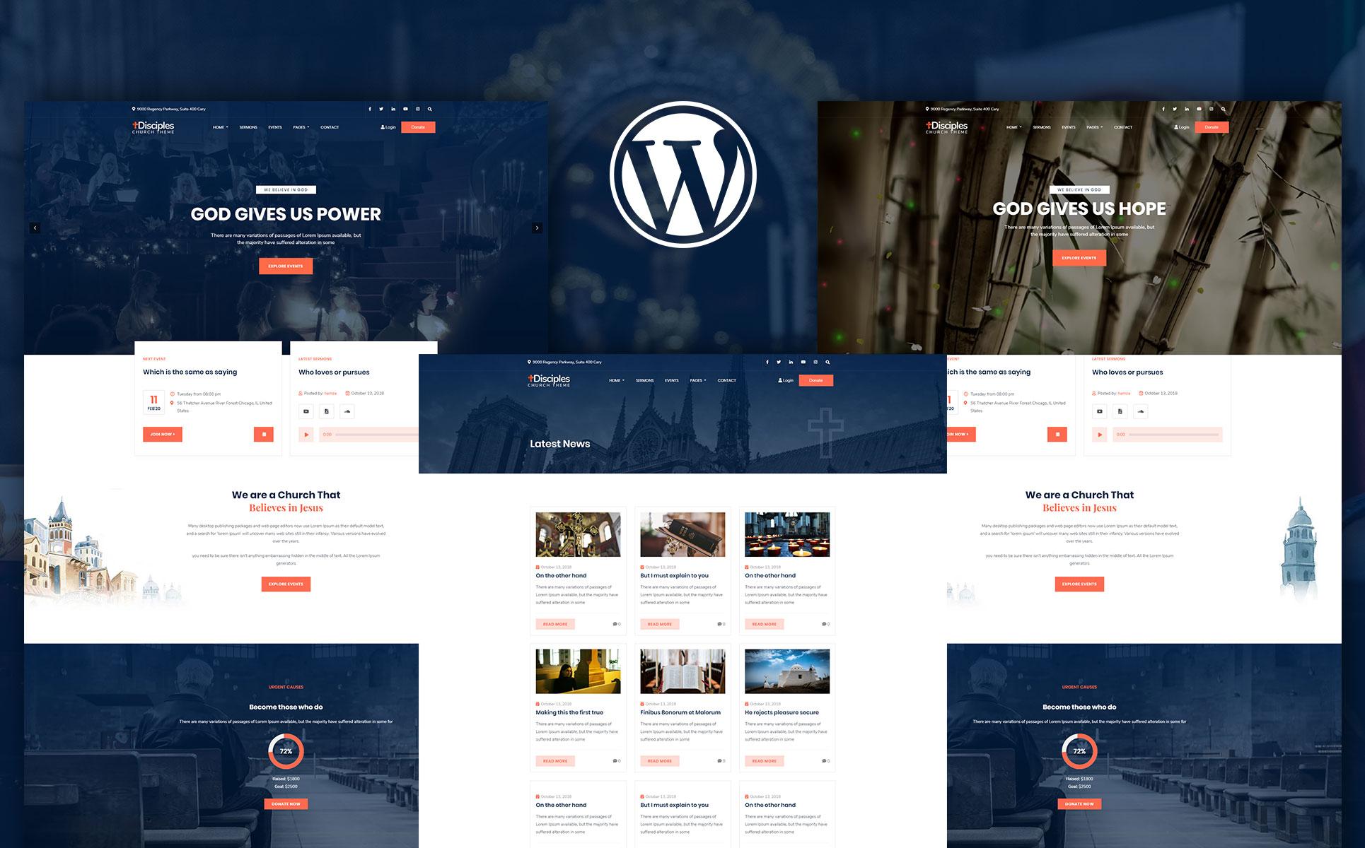 Disciples   Church and Religious WordPress Theme