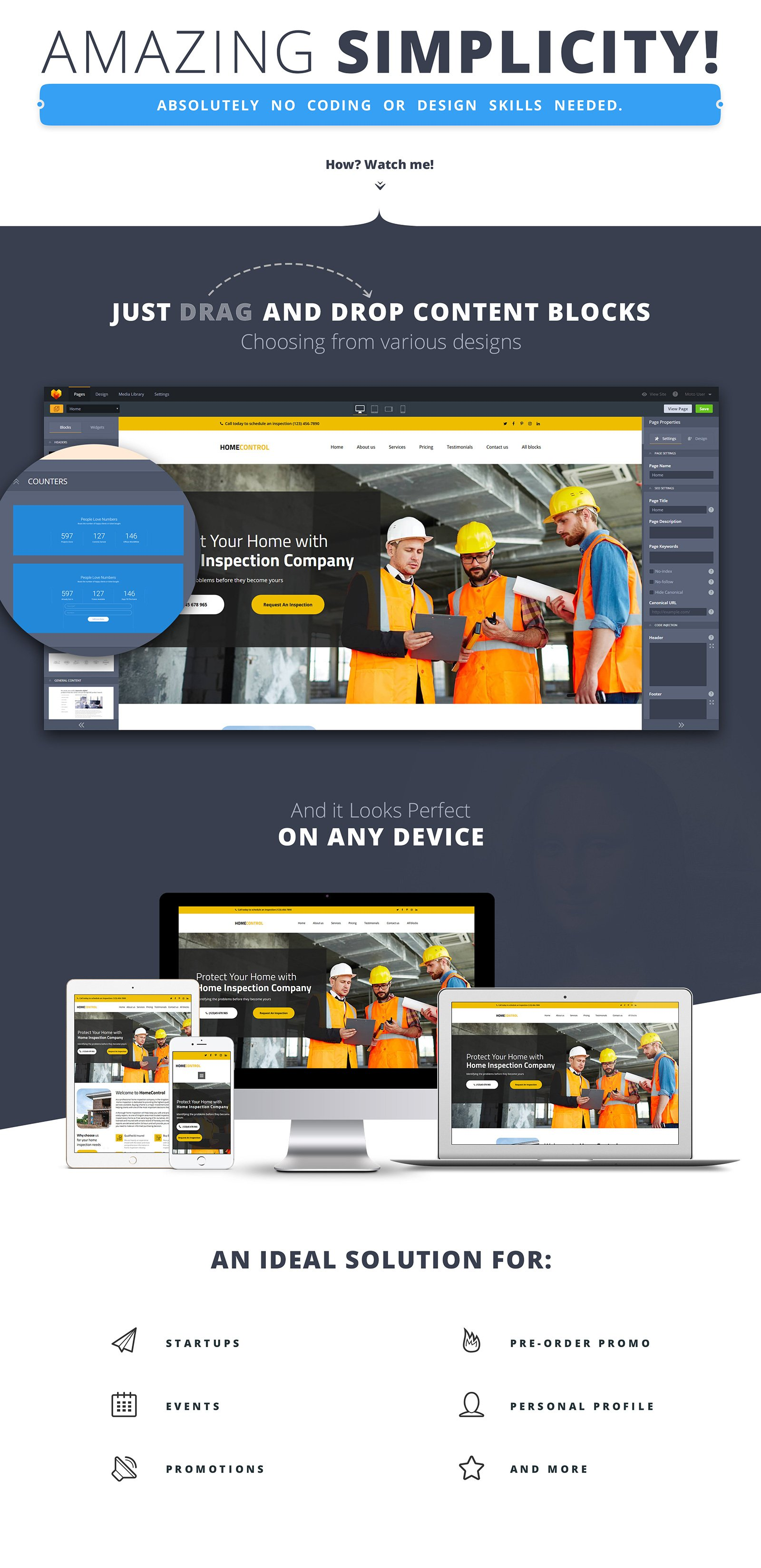 Home Inspector Landing Page Template
