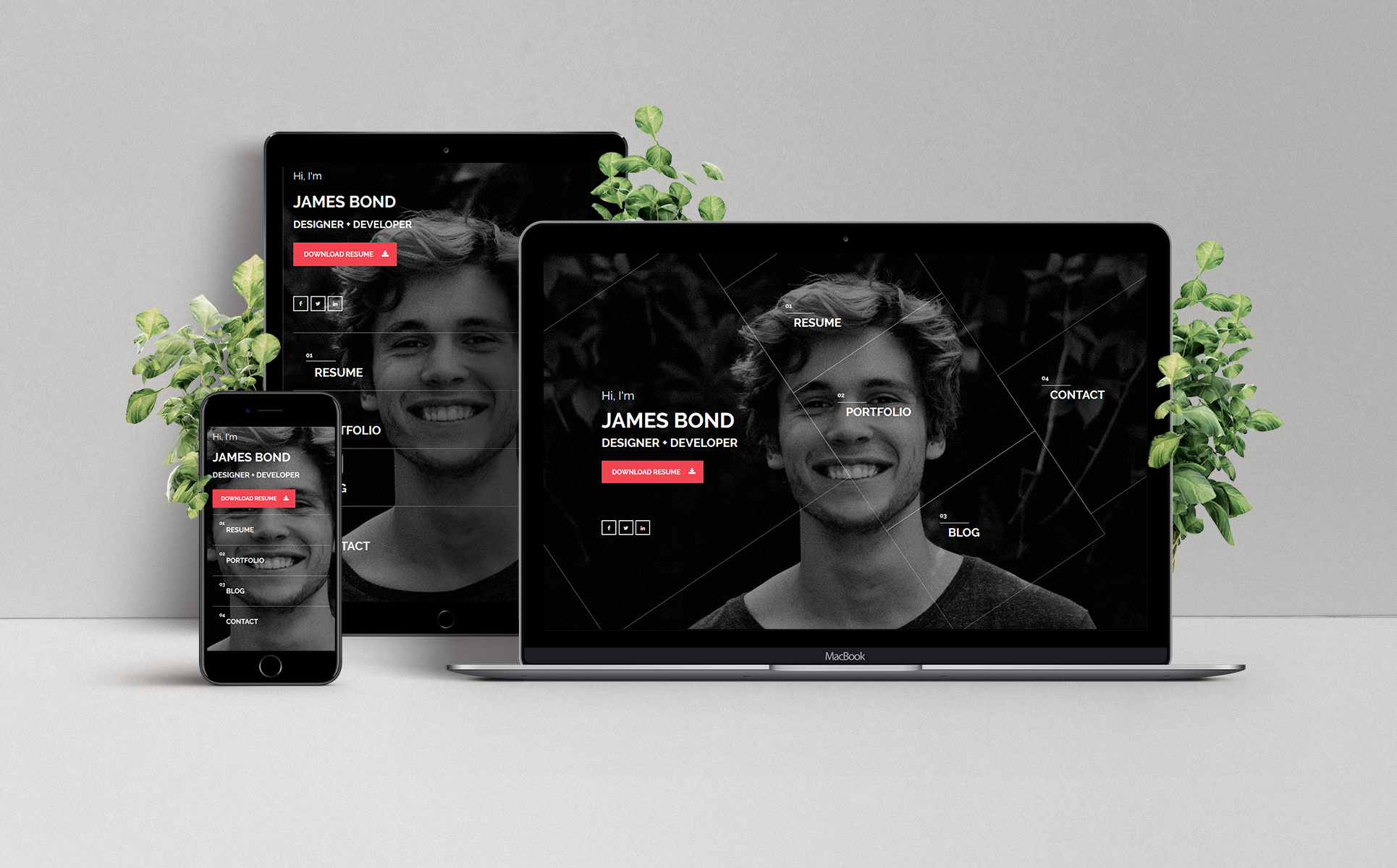 hello personal vcard website template  64816