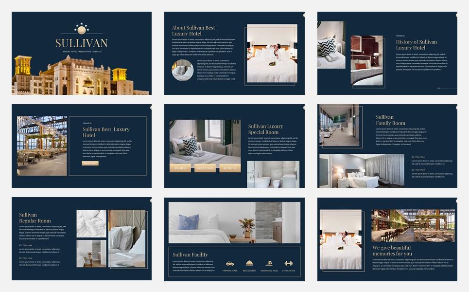 Sullivan - Luxury Hotel PowerPoint Template