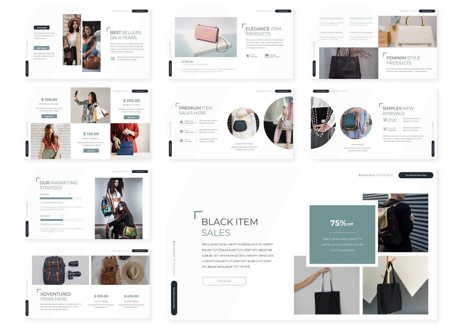 Baggions   PowerPoint Template