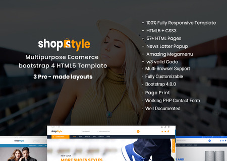 Shopstyle - Responsive Multipurpose E-Commerce HTML5