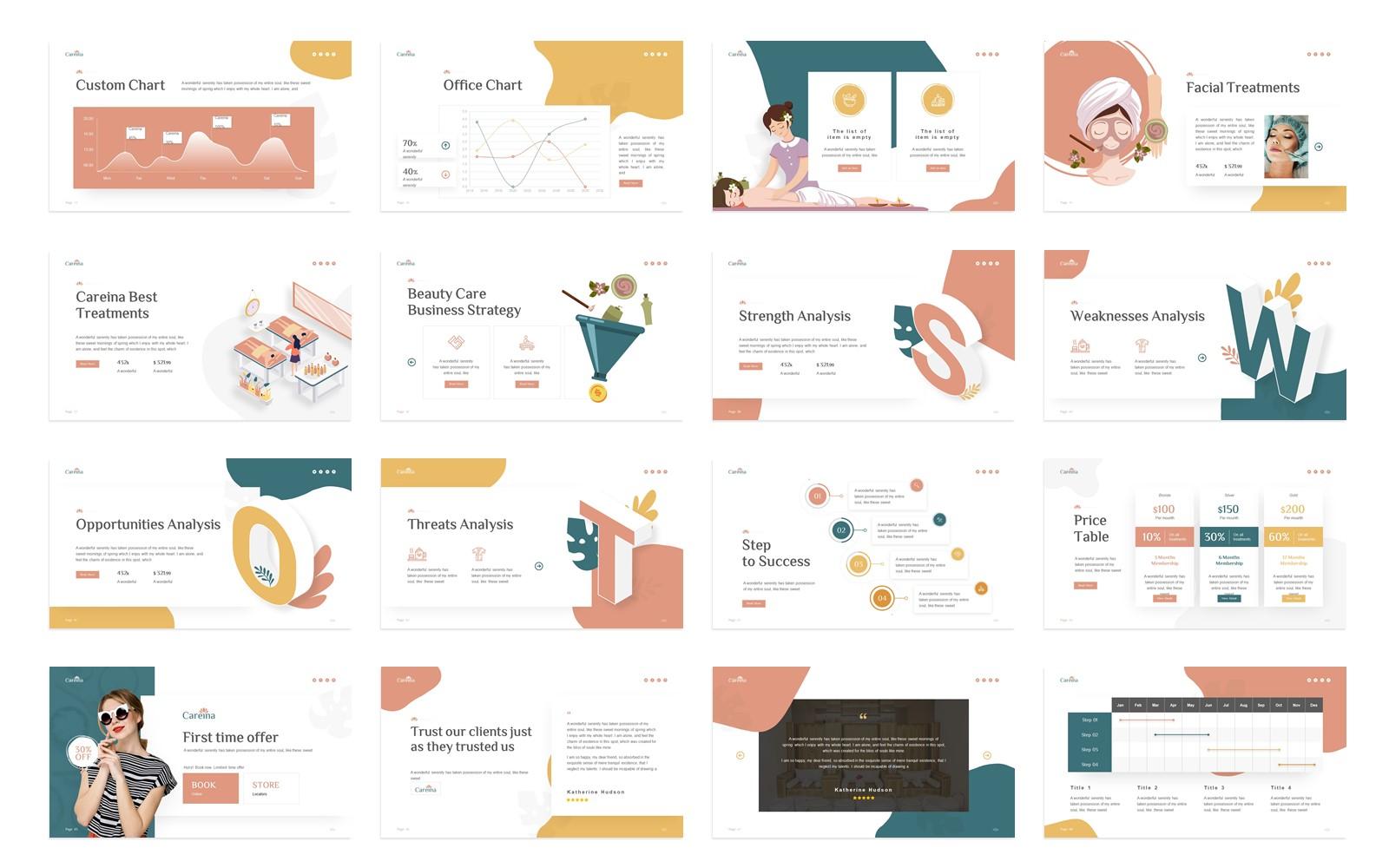 Careina - Spa Simple Minimalis PowerPoint Template