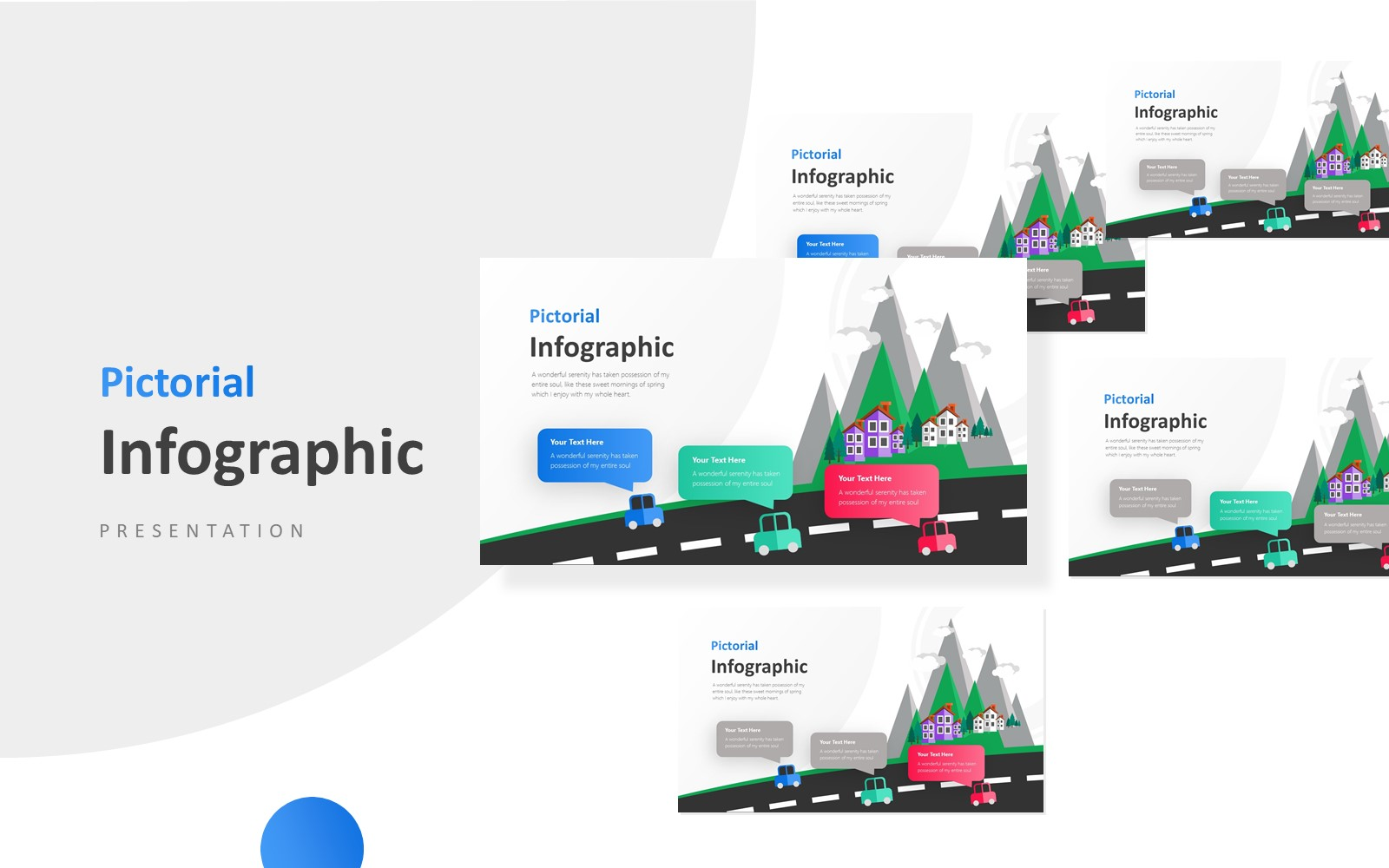 Three Steps Product Infographic Presentation PowerPoint Template