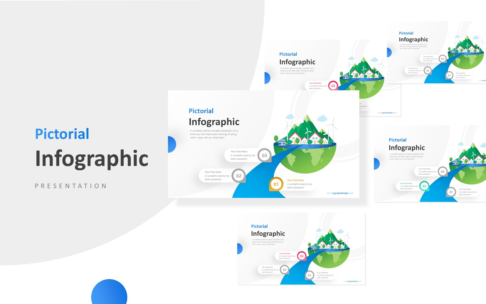 Three Steps Product Roadmap Infographic Presentation PowerPoint Template