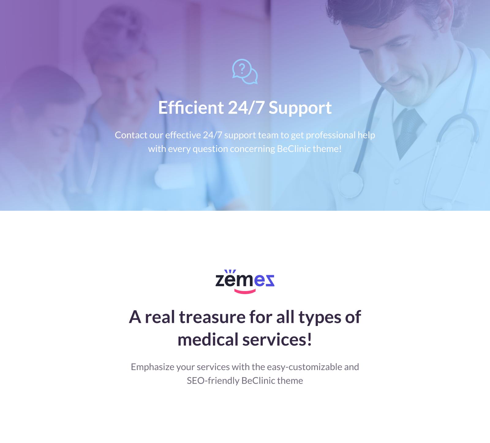 BeClinic - Multipurpose Medical WordPress Theme
