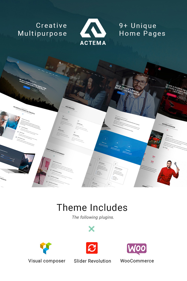 actema - creative business multipurpose wordpress theme #64765