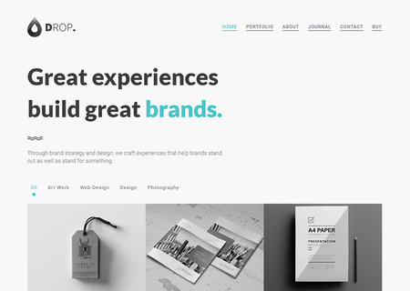Drop - Creative Personal & Portfolio Minimal