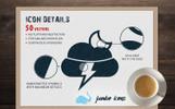Responsywny zestaw Ikon Jumbo Flat-Glyph Icons Pack #68773