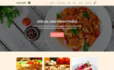 Responsivt HUNGRY - Restaurant Services PSD-mall