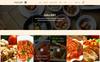 Responsivt HUNGRY - Restaurant Services PSD-mall En stor skärmdump