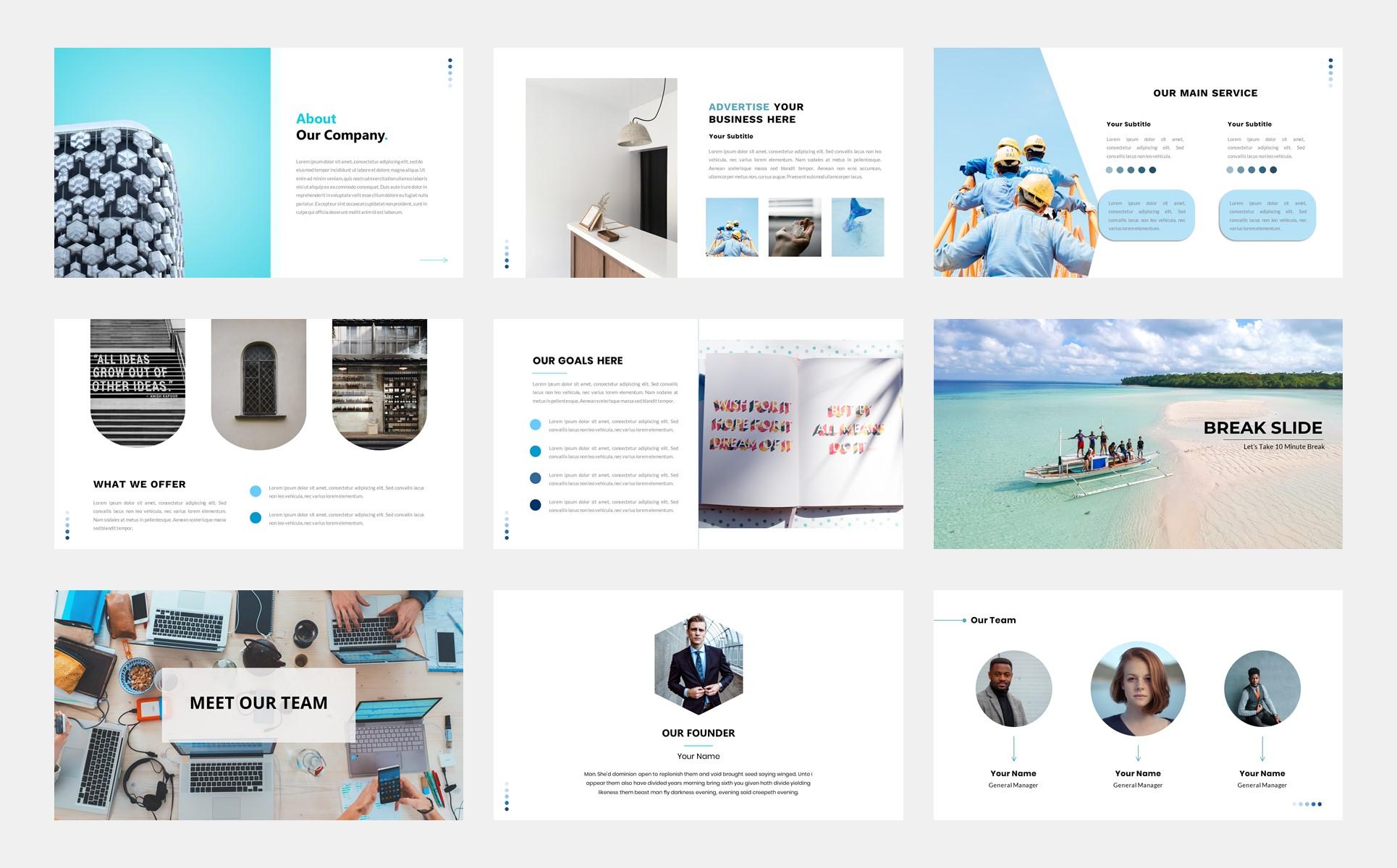 AQUA – Business PowerPoint Template