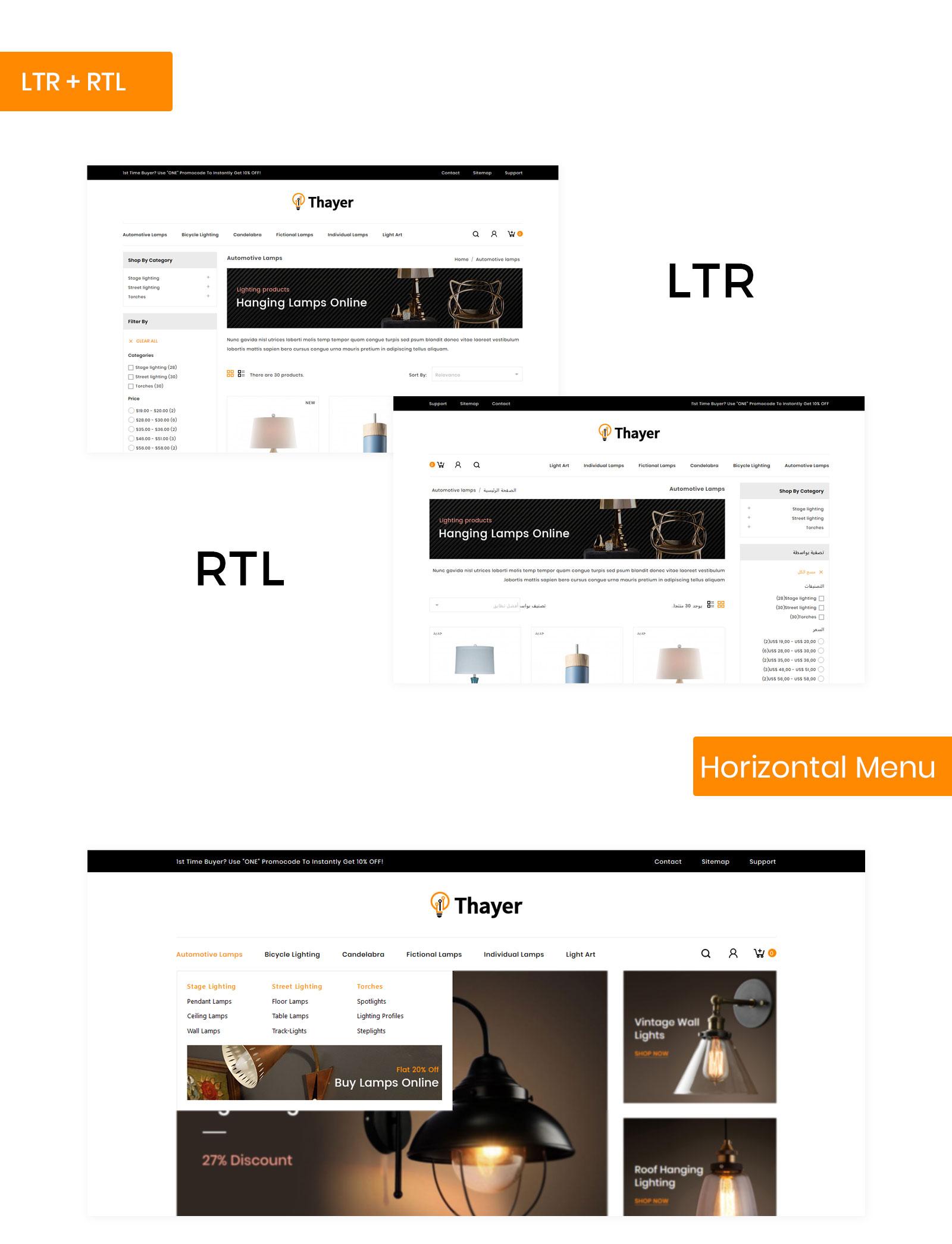 Thayer Lighting Store PrestaShop Theme