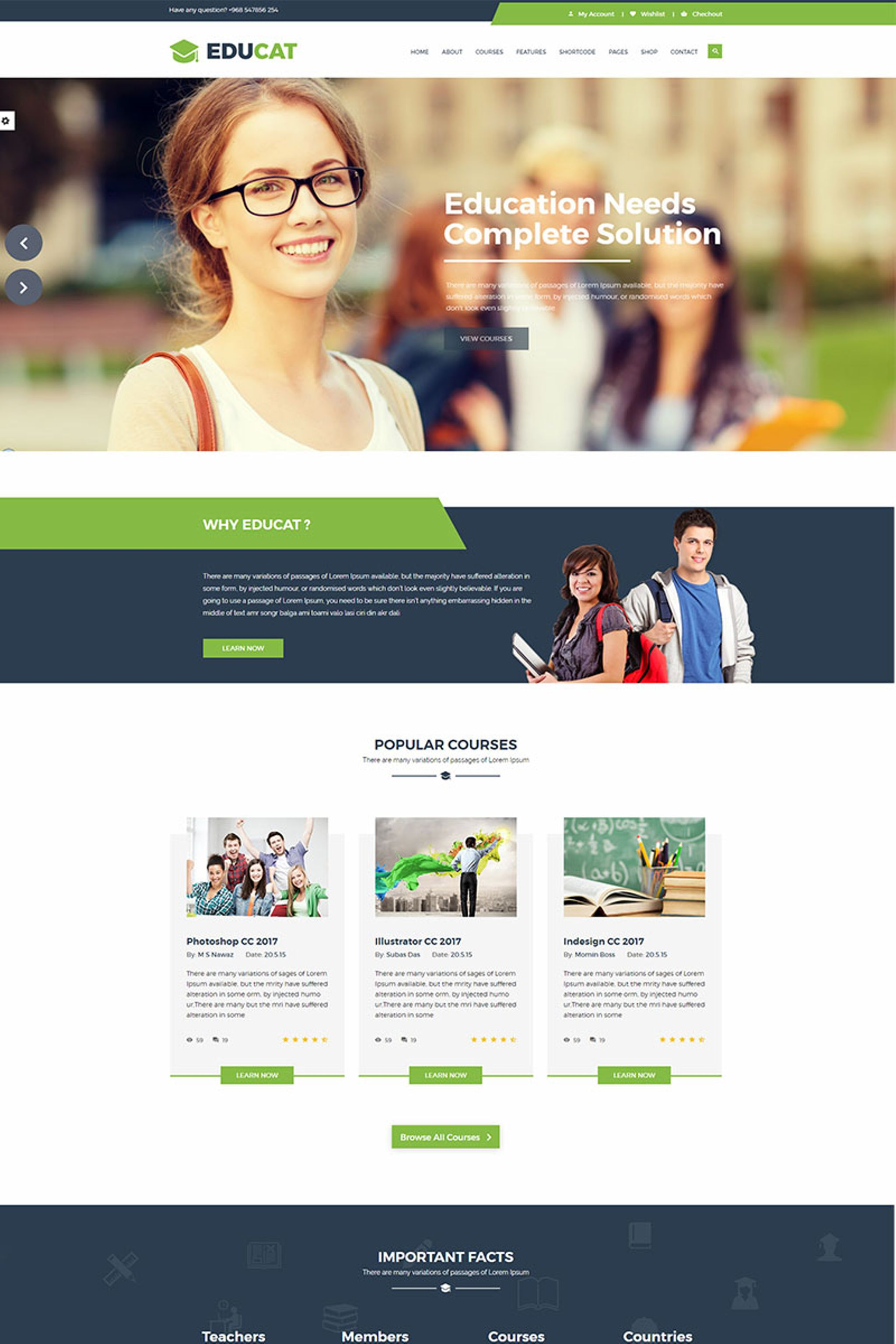 Educat - Education Website Template #65726