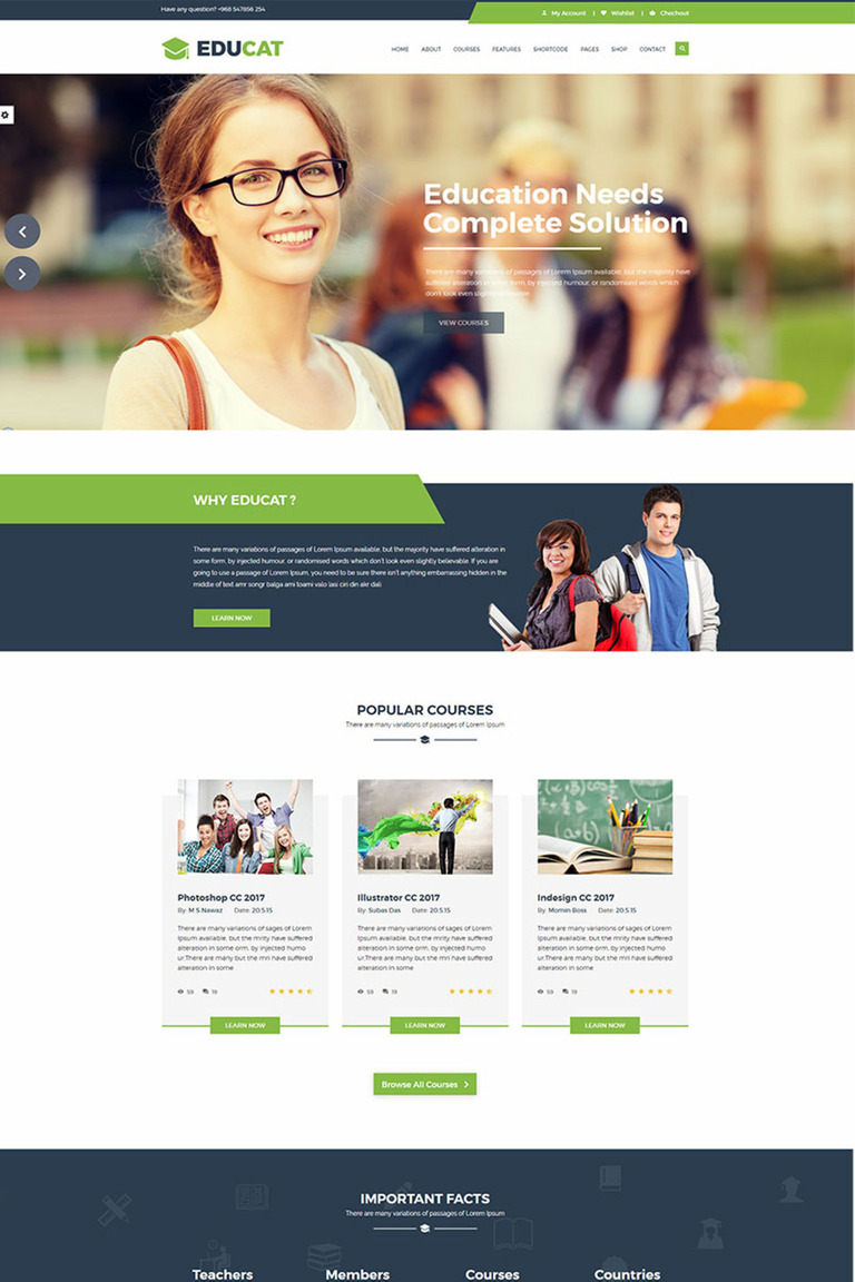 e learning website templates free download