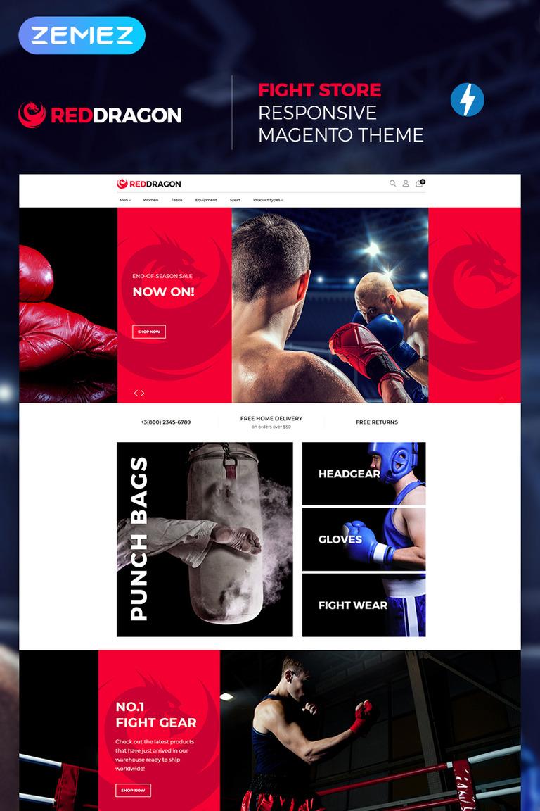 Magento Theme #67400 für Boxing