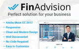FinAdvision - Financial Advisor Adobe CC 2017 Muse Template