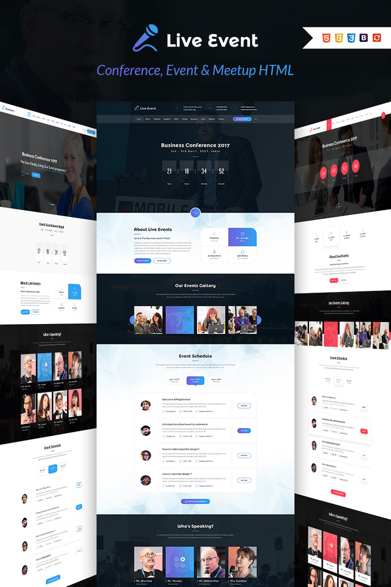 Live Event - Conference, Event & Meetup Landing Page Template #64668