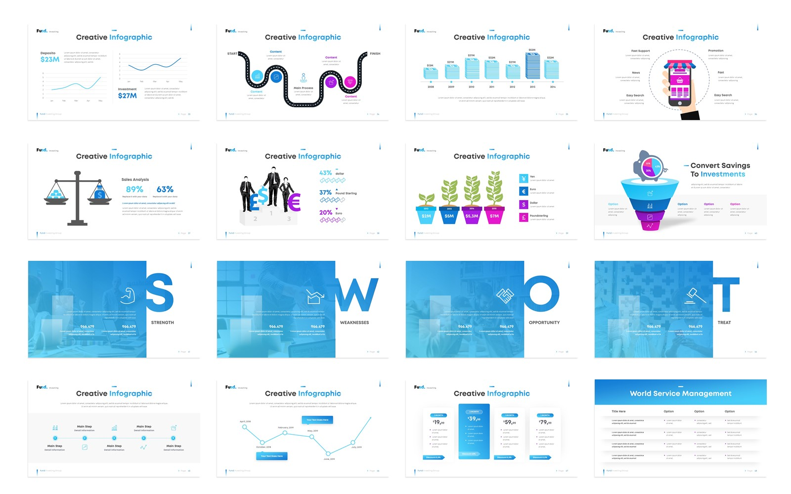 Fund - Investment Business Creative PowerPoint Template