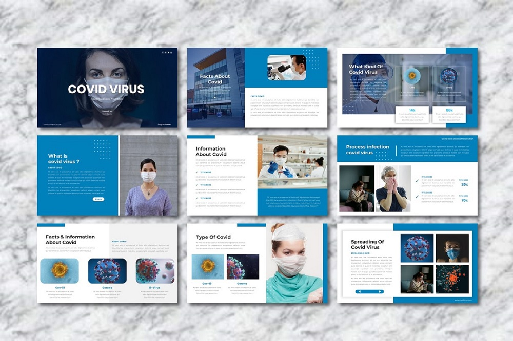 Covid Virus - Medical Presentation PowerPoint Template