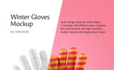 """Winter Gloves"" Product Mockup"