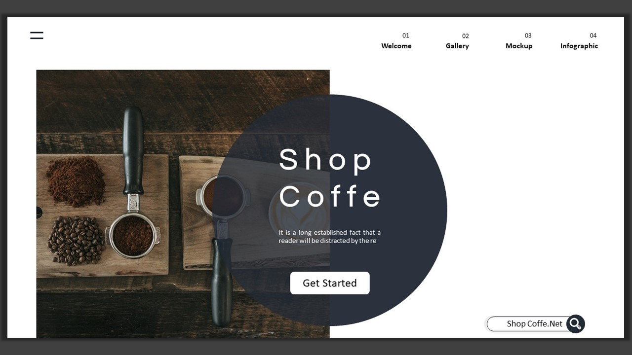 Shop Cofee – Creative Business PowerPoint Template