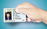 ID Card and Hand Product Mockup