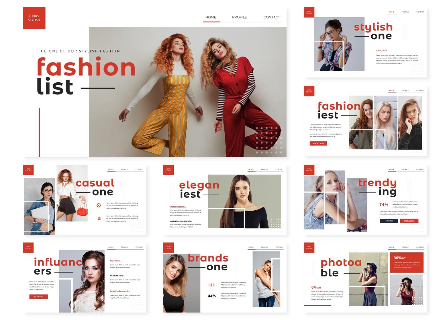 Fashionlist | PowerPoint Template